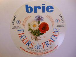 TGE88011 - Grande étiquette De Fromage BRIE FLEURS DE FRANCE 88115 Fromagerie CORCIEUX Vosges 88AE - Cheese