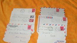 LOT 6 DEVANT D'ENVELOPPES DE 1971 A 1974...CACHETS 974 ST ANDRE, ST DENIS, STE MARIE, HELL BOURG LA REUNION + TIMBRES - Reunion Island (1852-1975)
