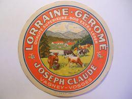GG002 - Grande étiquette De Fromage Géromé - Joseph CLAUDE à VAGNEY Vosges - Cheese