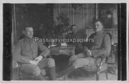 CARTE PHOTO ALLEMANDE SAULCES MONCLIN NOEL 1916 IM QUARTIER (CHÂTEAU ?) - Otros Municipios