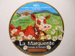 GG003 - Grande étiquette De Fromage LA MARGUERITE Vache Cloche - MASSINGY Société Schmidhauser à ALEX Haute-Savoie - Cheese