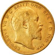 Monnaie, Australie, Edward VII, Sovereign, 1908, Sydney, TTB+, Or, KM:15 - 1855-1910 Handelsmunt