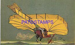 140397 ART ARTE THE MAN WITH A RARE AIRPLANE POSTAL POSTCARD - Illustrators & Photographers