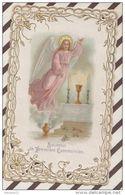 4AG418 IMAGE PIEUSE DENTELLE COMMUNION 1905  2 SCANS - Devotion Images
