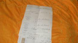 LOT 7 FACTURES ANCIENNES DE 1902 A 1914...PAUL TEMPLIER FABRICANT JOAILLIER BIJOUTIER PARIS...CERTAINES AVEC TIMBRES QUI - France