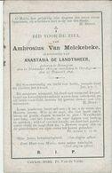 BP Van Melckebeke Ambrosius (Ressegem 1811 - Oordegem 1896) - Alte Papiere