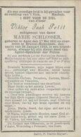 BP Petit Viktor Jaak (Aalst 1851 - Brussel Molenbeek 1893) Omgekomen In Brandramp, Agent-opzichter Van Politie - Alte Papiere