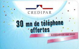 Carte Prépayée - CodCarte - CREDIPAR / Dans Son Encart Rare - France