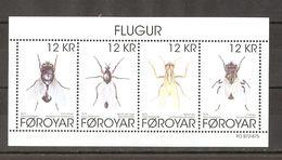 Féroé  - Insectes - Mouches - Bloc MNH - F905 - Faeroër