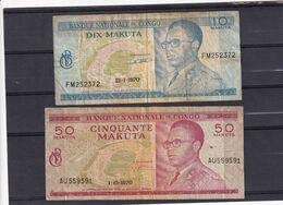 Zaire  Congo  50 + 10 Makuta 1970  Fine - Andere - Afrika