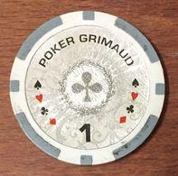 JETON POCKER GRIMAUD CHIP TOKEN COIN - Casino