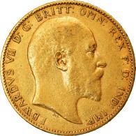 Monnaie, Australie, Edward VII, Sovereign, 1908, Perth, TTB, Or, KM:15 - South Australia