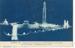 CPA,Th.Expo. N°101,Grenoble 1925,Expo. Inter.de La Houille Blanche Et Du Tourisme ,Illumination ,.Ed. A.M.1925 - Exhibitions