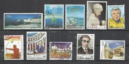 TEN AT A TIME - GREECE - LOT OF 10 DIFFERENT WITH HIGH FACIAL VALUES  21 - USED OBLITERE GESTEMPELT USADO - Collections