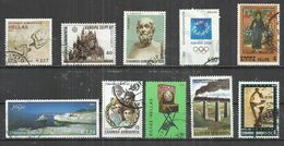 TEN AT A TIME - GREECE - LOT OF 10 DIFFERENT WITH HIGH FACIAL VALUES  22 - USED OBLITERE GESTEMPELT USADO - Collections