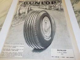 ANCIENNE PUBLICITE D5  PNEU DUNLOP 1953 - Werbung