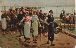54. CPA. Meurthe Et Moselle. Bey-sur-Seille. Augustin Feyen-Perrin. Le Retour De Pêche Aux Huîtres (peinture, Tableau) - Otros Municipios