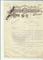 13 - Bouches Du Rhone - Salon - Facture Théophile Berthon -  Huiles - Savons   -1910 - Réf.44. - France