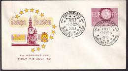Belgique - 1962 - Cachets Spéciaux - FDC - Tielt '62 - Europa Feesten - A1RR2 - Gebruikt