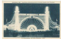 CPA,Th.Expo. N°72 ,Grenoble 1925,Expo. Inter.de La Houille Blanche Et Du Tourisme, Illuminations , La Porte Ed. A.M.1925 - Exhibitions
