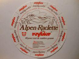 GG005 - Grande étiquette De Fromage RACLETTE REYBIER - ENTREMONT ANNECY Haute-Savoie - Cheese
