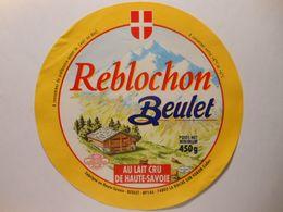GG006 - Grande étiquette De Fromage REBLOCHON BEULET Chalet - Beulet à LA ROCHE SUR FORON Haute-Savoie - Cheese
