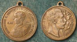 M_p> Medaglia Guglielmo II - 1892 - Vedere Foto - Royal / Of Nobility