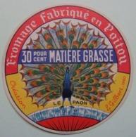 Etiquette Fromage - Le Paon - Fromagerie Anonyme 79.F Poitou - Deux-Sèvres   A Voir ! - Cheese