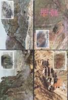 CHINA 1990, 2 Series MAXICARD, FD-cancellation, Cards Unused - 1949 - ... République Populaire