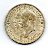 GERMAN STATES - PRUSSIA, 3 Mark, Silver, Year 1911, KM #531 - [ 1] …-1871 : German States