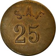Monnaie, France, S.A.F., Atelier Incertain, 25 Centimes, TTB+, Laiton - Monétaires / De Nécessité