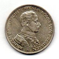 GERMAN STATES - PRUSSIA, 3 Mark, Silver, Year 1914-A, KM #538 - [ 1] …-1871 : German States