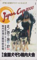 Télécarte JAPON / 110-016 - CHIEN HUSKY Traîneau Course Musher CUP 2000 - DOG Sleddog - Animal JAPAN Phonecard - 1473 - Chiens