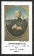 Santino/reliquia/holycard/relic: PHILIP JENINGEN S.I. - (1642-1704) - Religion & Esotericism