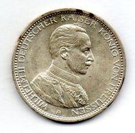 GERMAN STATES - PRUSSIA, 5 Mark, Silver, Year 1914-A, KM #586 - [ 1] …-1871 : German States