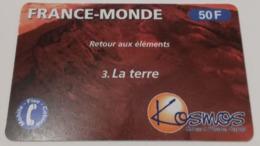 Télécarte - KOSMOS - France-Monde - N°3 La Terre - Télécartes