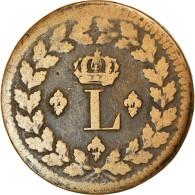 Monnaie, France, Louis XVIII, Decime, 1814, Strasbourg, TB+, Bronze - France
