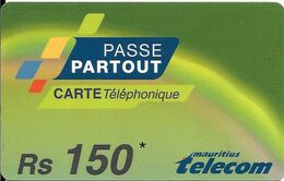 CARTE-PREPAYEE-MAURICE-RS150-PASSE-TBE-RARE - Maurice