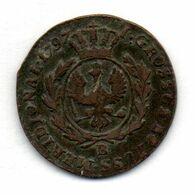 GERMAN STATES - SOUTH PRUSSIA (POLAND), 1 Grossus, Copper, Year 1797-B, KM #C3 - [ 1] …-1871 : German States