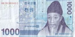 Billet De 1000 Won -Bank Of Korea - HK 3636940 C - Corea Del Sud