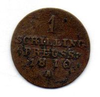 GERMAN STATES - EAST PRUSSIA (POLAND), 1 Schilling, Copper, Year 1810, KM #C54 - [ 1] …-1871 : German States