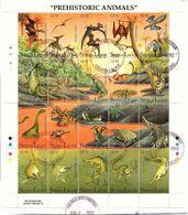 SIERRA LEONE  -  BLOC PREHISTORIC ANIMALS  - CACHET PHILATELIC SECT. FREETOWN 8 JUNE 1992 / TBS - Sellos