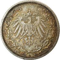 Monnaie, GERMANY - EMPIRE, 1/2 Mark, 1907, Berlin, TTB+, Argent, KM:17 - 1/2 Mark