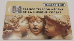 Télécarte - France Télécom Mécène De La Musique Vocale - 1992 - Tirage 750 000 Ex. - Musique