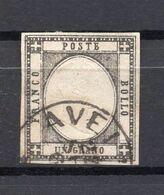 1861. ITALY, UN GRANO, POSTAL STAMP USED - 1861-78 Vittorio Emanuele II