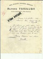 70 - Haute Saone - Faucogney - Facture Alfred Tuaillon - Bois - Ecorces - Charbon - Merrain - 1916 - Réf.44. - France