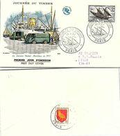 FRANCE - FDC - LE SERVICE POSTAL MARITIME EN 1957  - JOURNEE DU TIMBRE 16.357 PARIS  / 2 - FDC