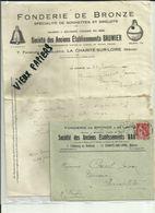 58 - Nièvre - La Charité Sur Loire - Facture Ets. Baumier - Fonderie De Bronze - Cloches - Grelots  - 1923 - Réf.44. - France