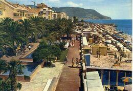 Pietra Ligure - Spiaggia E Passeggiata - Formato Grande Viaggiata – E 17 - Savona