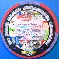 $5 Casino Chip. Tropicana, Las Vegas, NV. 9th CC&GTCC Convention. O58. - Casino